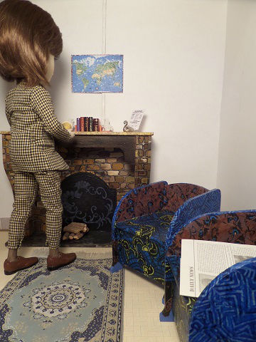 Diorama fauteuil miniature 1/6ème Minicréa