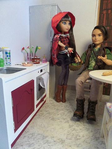 Diorama combi de cuisine miniature 1/6ème Minicréa