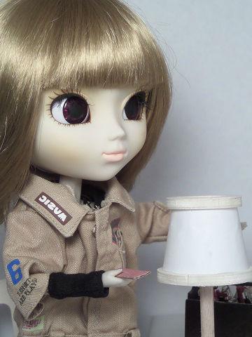 Tuto petite lampe de chevet à abat-jour conique 1/6ème Minicréa